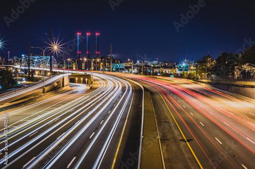 Foto op Aluminium Nacht snelweg Highway at night