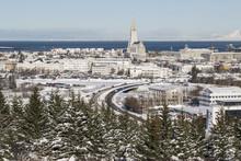 Wintery View To Reykjavik