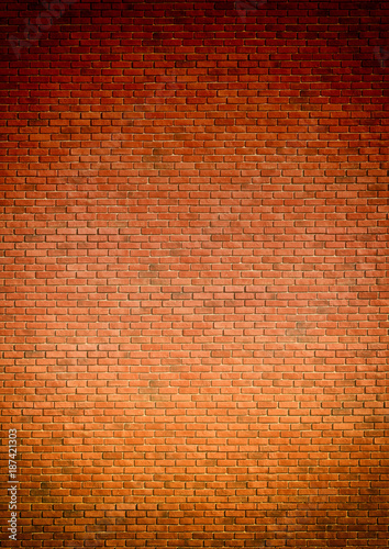 Red brown block brick wall Beautifully arranged texture background Wallpaper Mural