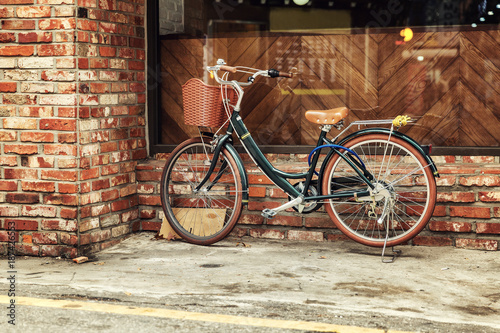 Recess Fitting Bicycle Bicycle on the city street