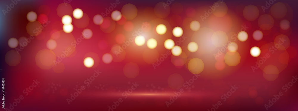Fototapety, obrazy: A luxury red bokeh vector image for Abstract background.