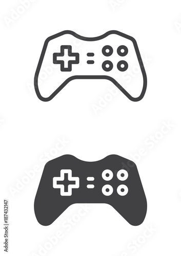 Gamepad Joypad Icon Line And Solid Version Outline And Filled