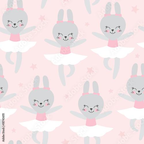 Little Bunny Cartoon Animal Print