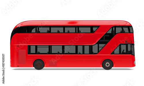 Fotografía New London Double Decker Bus Isolated