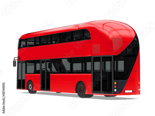 New London Double Decker Bus Isolated фототапет