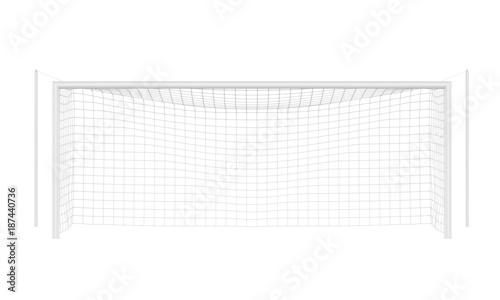 Fotografia, Obraz  Soccer Goal Post Isolated