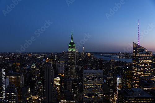 Foto op Aluminium New York Night skyline of New York City.