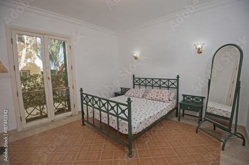 Fototapeta Interior design of bedroom in house obraz na płótnie