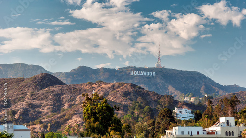 Hollywood Hills in Los Angeles, California. Wallpaper Mural