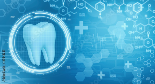 Fotografie, Obraz  dentistry background concept