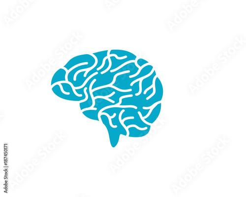 Brain illustration icon template Canvas Print