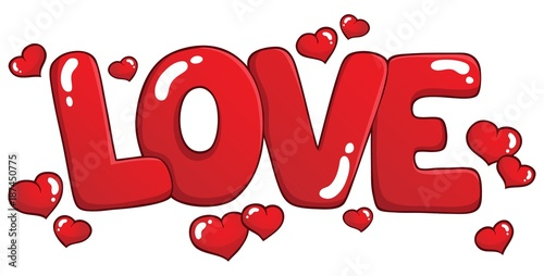 Printed kitchen splashbacks For Kids Word love theme image 1