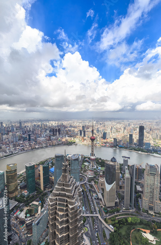 Foto op Canvas Seoel Shanghai skyline and cityscape
