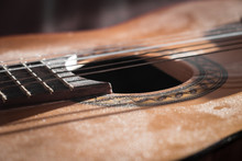 Dusty Classical Guitar Close-up