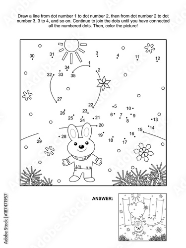 Valentines Day Themed Connect The Dots Picture Puzzle And Coloring Page With I Love You Hidden