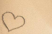 Heart Written On The Sand