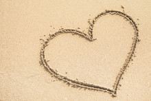 Heart Written On The Sand