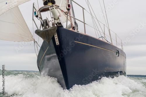Spoed Foto op Canvas Zeilen Sailing Boat Yacht