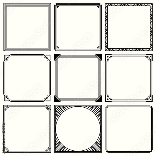 Set of decorative frame Wall mural