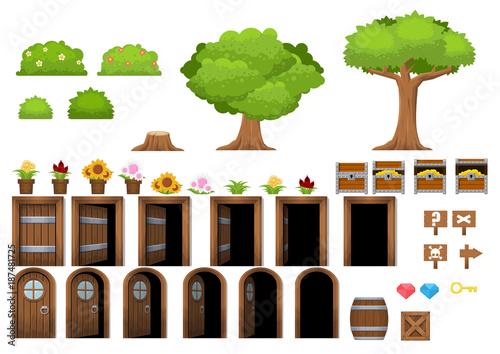 Fotografie, Obraz  Village Game Objects