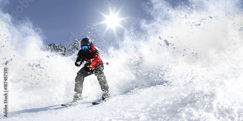 Wall Murals Winter sports winter skie and snow