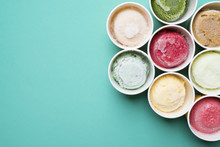 Top View Ice Cream Flavors In ...