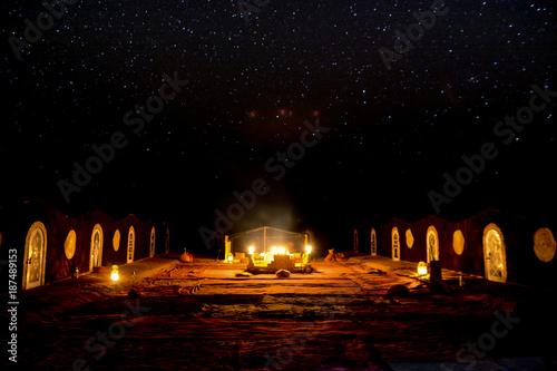 Landscape in desert of  morocco