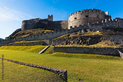 Valokuva Part of the walls of the Beseno castle in Trentino, Italy