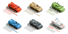 Army Military Vehicles Isometr...