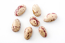 Raw Pinto Beans Isolated On Wh...