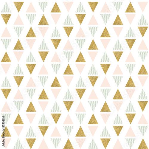 abstrakcjonistyczny-bezszwowy-geometryczny-wzor-geometria-zlote-rozowe-i-zielone-trojkaty-tekstury