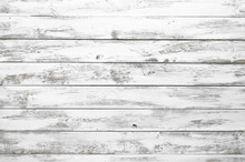 Shabby White Wooden Surface. Wood Texture Background