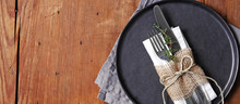 Plate With Fork And Knife Banner