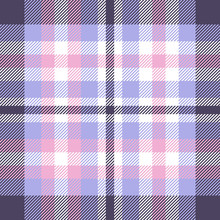 Plaid Check Pattern In Pink, P...