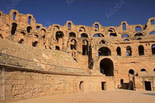 Roman Amphitheatre in El Jem in Tunisia, North Africa Canvas Print