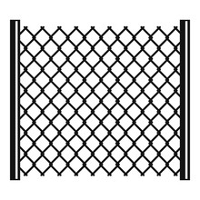 Perforated Gate Icon, Simple Style