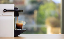 Espresso Coffee Machine On A W...