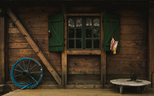 Old Wooden Cottage /facade Det...