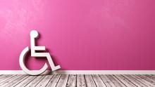 Wheelchair Symbol Against Wall...