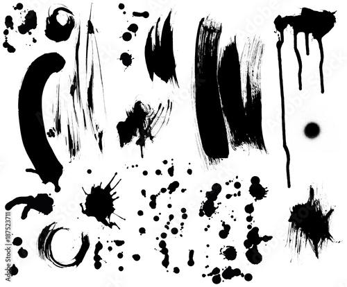 Pinselstriche Farbkleckse maskiert Canvas Print