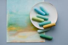 Soft Pastel Sticks On Porcelai...