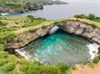 Amazing lagoon in rocky coastline