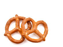 Two Pretzels Isolated On A Whi...
