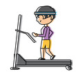 man on a treadmill