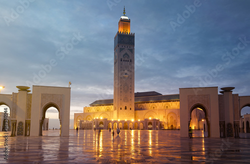 The Hassan II Mosque is a mosque in Casablanca, Morocco. Wallpaper Mural