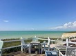 canvas print picture - Decking with a view in Peacehaven, East Sussex