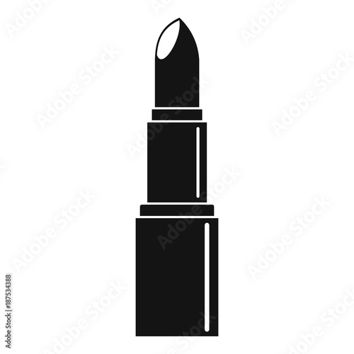 Lipstick icon, simple style Wall mural
