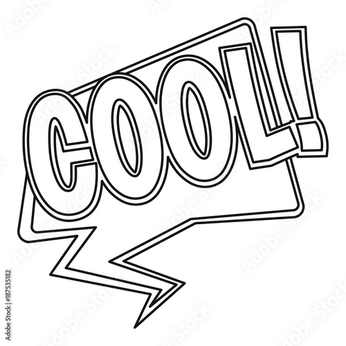 COOL, comic text sound effect icon, outline style - Buy this