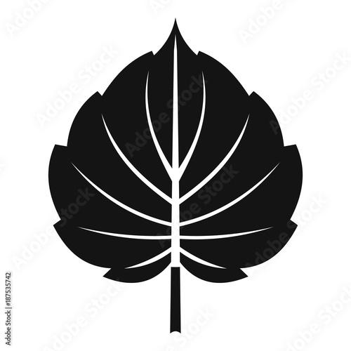Photo Alder leaf icon, simple style