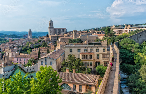 View of the Cathedral in Girona, Spain